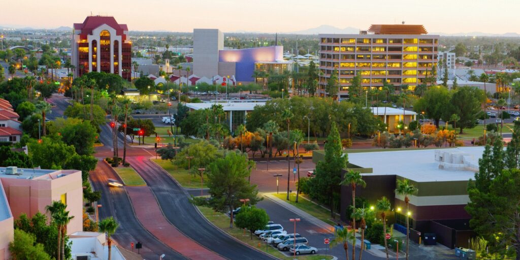 Skyline view of the City of Mesa