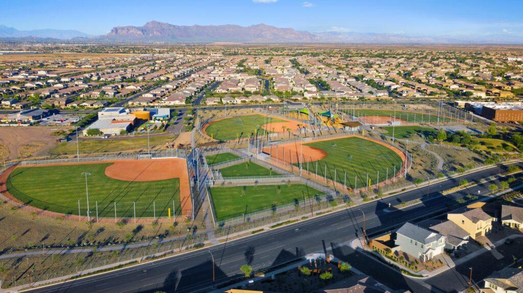 Baseball field in Mesa AZ