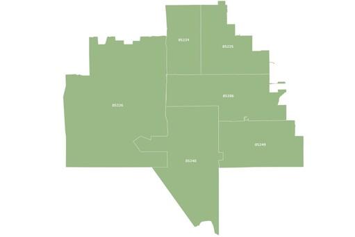 Chandler Arizona map