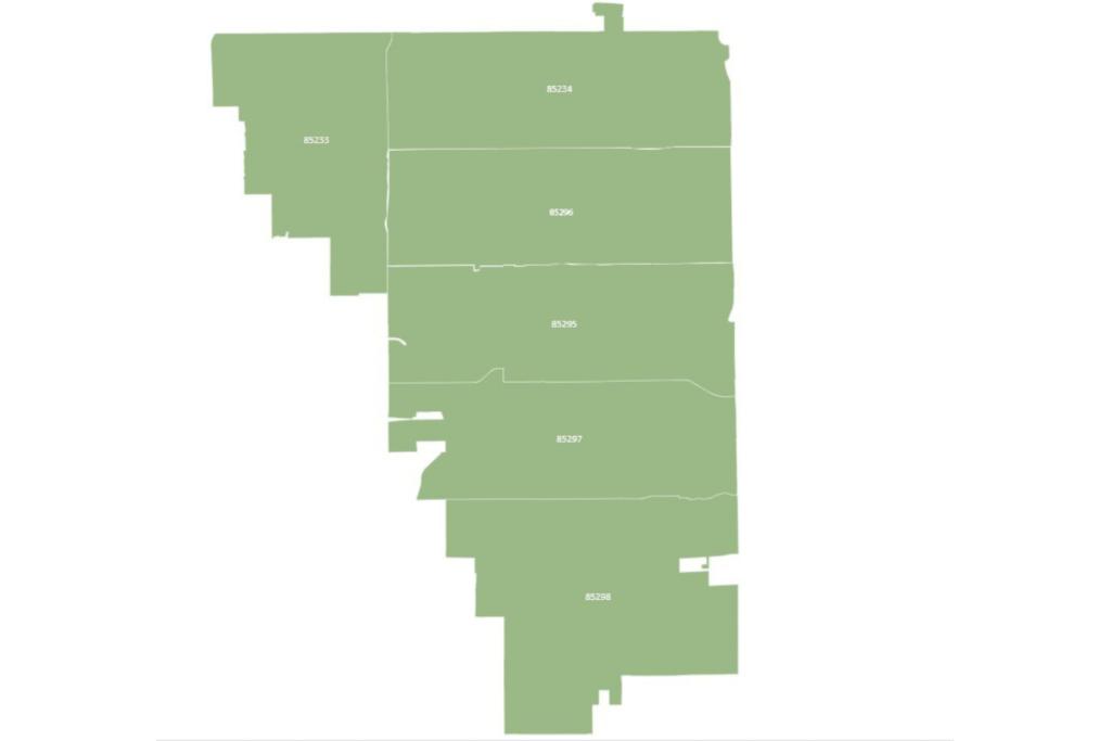 Gilbert Arizona Map