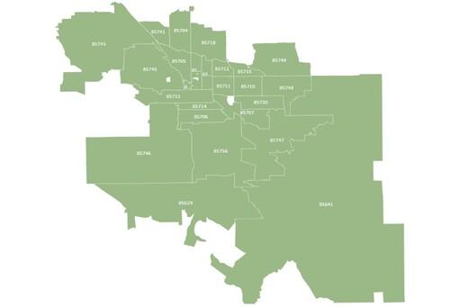 Tucson Arizona Map